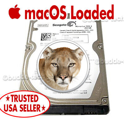 $42.80 • Buy Hard Drive For Macbook Pro 2007 2008 2009 13 15 17  250GB HDD 2.5  Mountain Lion
