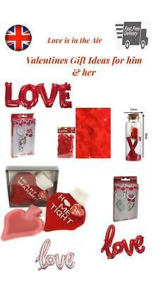VALENTINES DAY GIFTS Ideas His & Her ROMANTIC Love Heart Cute Valentine Messages • 2.95£