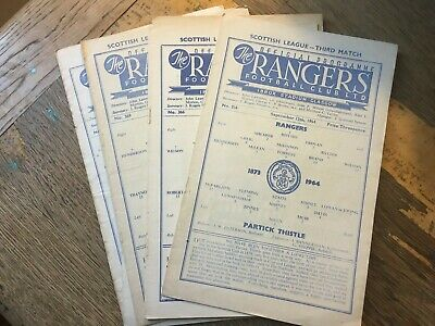 £1.99 • Buy Rangers HOME Programmes 1960s Choose From List