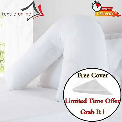 V Shaped Pillow And FREE Case Orthopedic Back & Neck Maternity Nursing Support  • 9.99£