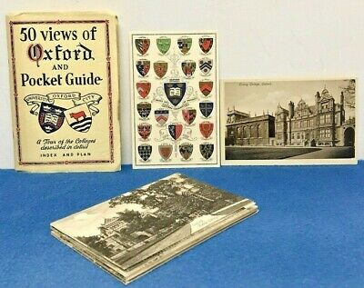 £24.99 • Buy Vintage Oxford Colleges Postcard Collection & Pocket Guide Book 50 Views