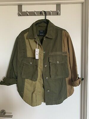 AU10 • Buy Bershka Patched Army Jacket Green Size S