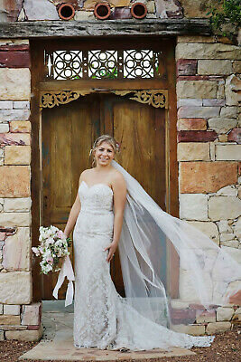 AU1250 • Buy Peter Trends Domenica Wedding Dress Champagne/Ivory Size 14