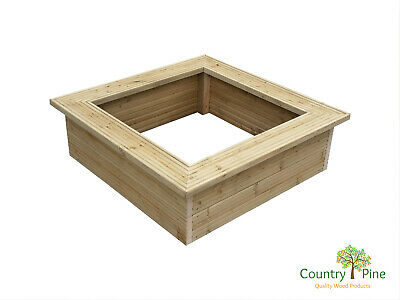 Decorative Decking Raised Garden Bed - Treated Timber - 9 Colours - Flat Pack • 46.95£