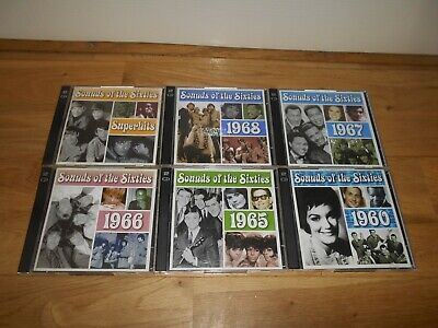 Sounds Of The Sixties 60's Cd Job Lot X6 Bundle Cd's Time Life Superhits 1966 • 54.95£
