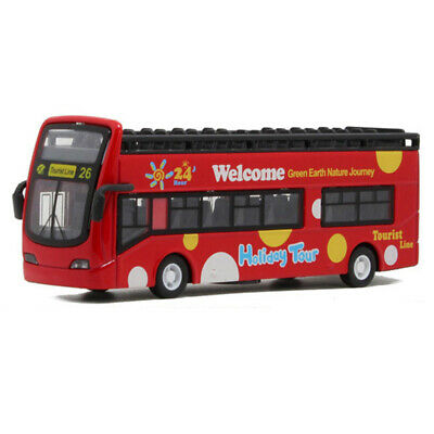 $ CDN23.61 • Buy Double Decker Open-Top Tour Bus Alloy Diecast Model Car Toy Vehicle Red Gift Kid