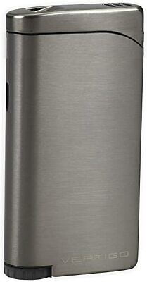Vertigo  Concorde  Butane Lighter, Gunmetal, Twin Torch Flame, Cigar Punch • 10.14£