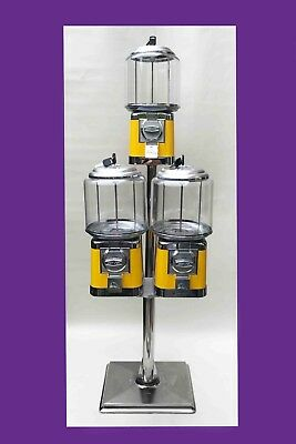 Beaver Sweet Machine Pipe Stand Triple Head Coin Operated Sweet Vending /53-1 • 110£