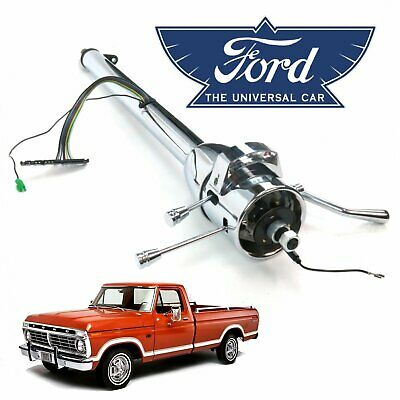 $209 • Buy 1967-79 Ford F-Series Truck 33  Chrome Tilt Steering Column Shift Ranch F-100 V8
