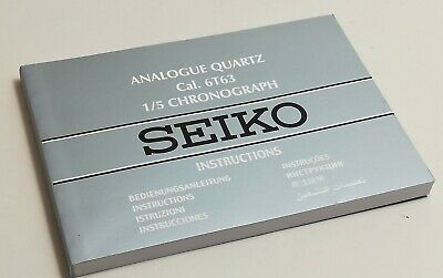 $9.95 • Buy Seiko Caliber 6T63 1/5 Chronograph Instructions Booklet