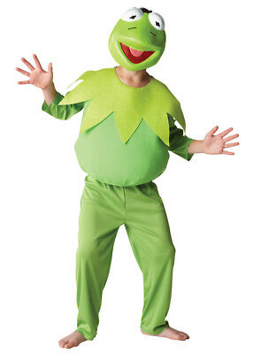 Kermit The Frog Muppets Fancy Dress Costume Halloween/Book Week Ages 3 - 8 Yrs • 20.50£