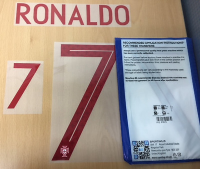 $22.50 • Buy Sporting ID Official Nike Portugal Authentic Away Nameset Print Ronaldo 7 18/19