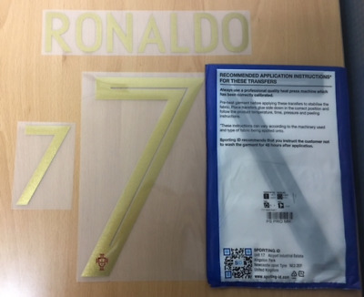 $22.50 • Buy Sporting ID Official Nike Portugal Authentic Home Nameset Print Ronaldo 7 18/19