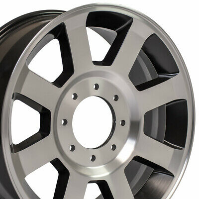$888 • Buy 20x8 Satin Black Machined F350 Super Duty Style Wheel SET