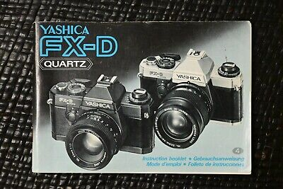 Original Yashica FX-D Users Instruction Manual • 4.50£