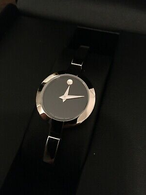 $275 • Buy Movado Women's Bela Stainless Steel Bangle Watch With Black Dial