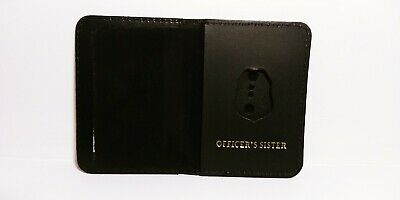 NJ/NY Style-Police-Sergeant Officer's Sister Family Mini Badge ID Wallet Leather • 10.12£