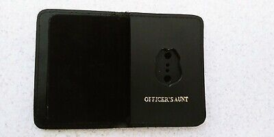 NJ/NY Style-Police-Sergeant Officer's Aunt Family Mini Badge ID Wallet Leather • 10.12£