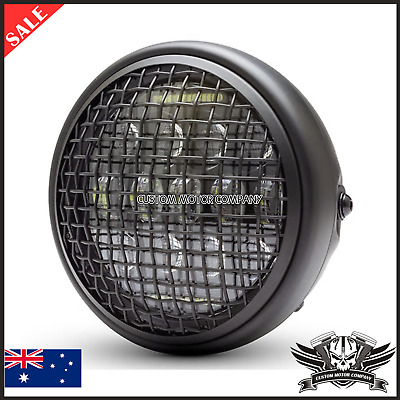 AU169.99 • Buy 7  Grill Retro Motorcycle Headlight Led Daymake Cafe Racer Bobber Project Custom