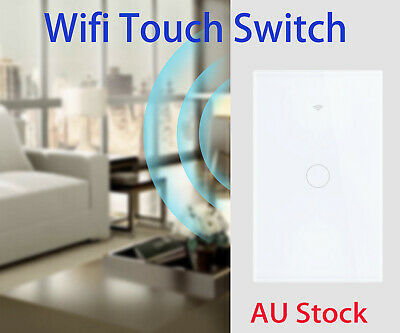 AU35.99 • Buy 1/2/3 Gang Touch Panel Wifi Smart Light Switch LED For Google Home Alexa