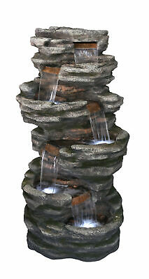 LED Lit Washington Slate Falls Cascading Garden Water Feature Outdoor Decor • 2,449£