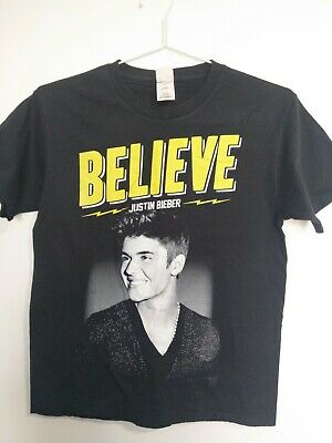 AU24.50 • Buy Small Justin Bieber Believe Live 2013 Tour Concert Tee Band Merch T-Shirt Top