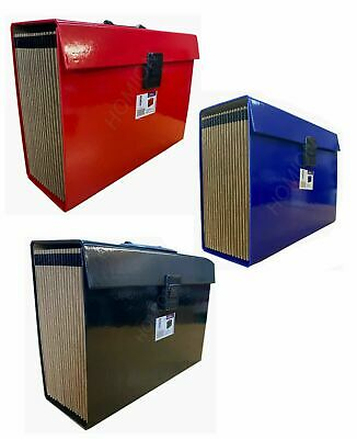 Expanding A4 Storage Box File Organizer Paper Documents Foolscap Folder Case   • 8.95£