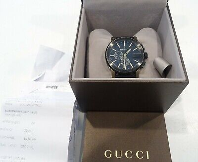 AU699 • Buy Gucci Black & Gold G-Chrono Watch (101.2)