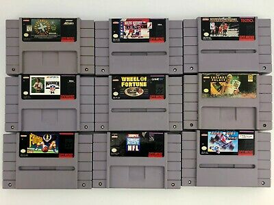 $ CDN68.02 • Buy Authentic Vintage Super Nintendo SNES Lot Of 9 Games - Cleaned - Tested & Works