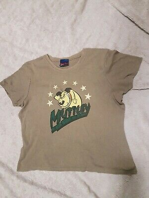 Wacky Races Cartoon Network Muttley Khaki Green Cotton T-shirt Size 16 • 6£