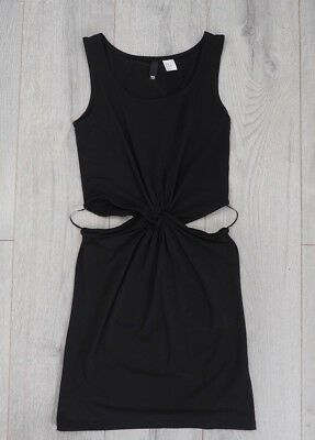 £9.99 • Buy Womens Cut Out Black Body Con Jersey Dress UK 10 Chic Style Blogger