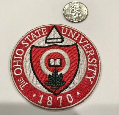 "$6.50 • Buy THE OHIO STATE UNIVERSITY Vintage Embroidered Iron On Patch 3""x 3"" Awesome!!"