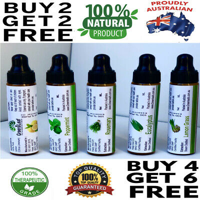 AU10 • Buy ESSENTIAL OIL 100% PURE 10ml BUY 2 GET 1 FREE AROMATHERAPy ADD 3 OIL IN CART