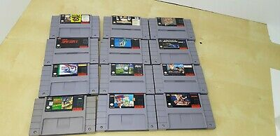 $ CDN90 • Buy LOT OF 12 Super NINTENDO SNES GAMES Mario SimCity Double Dragon Fatal Fury