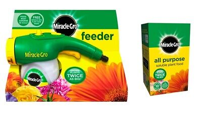 Miracle Gro Hose Pipe Feeder & Feed Plus 1 All Purpose Soluble Plant Food 500g • 19.99£