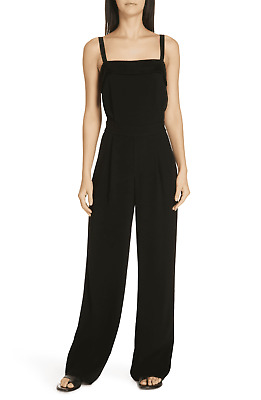 $175.95 • Buy NWT Vince Tuxedo Wide Leg Jumpsuit  Black Size 8 $445