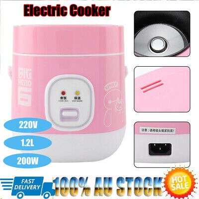AU39.69 • Buy 1.2L 220V Mini Electric Cooker Home Rice Cooker For Dormitory Use AU Plug Pink