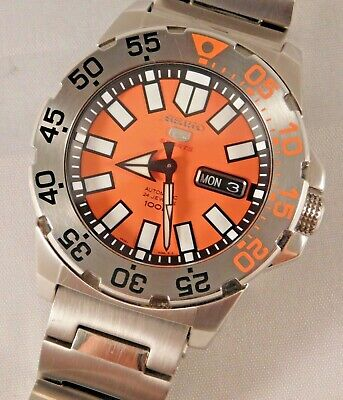 $ CDN647.79 • Buy Seiko Baby Orange Monster Automatic Stainless Steel SRP483 Mens Watch....43mm