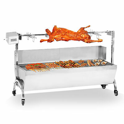 $347.65 • Buy Outdoor Cooker Grill 46  Large 28W Stainless Steel BBQ Spit Roaster Rotisserie