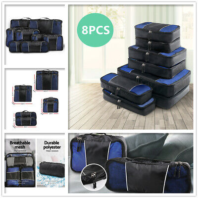 AU26 • Buy 8PCS Luggage Organiser Suitcase Sets Home Travel Packing Cubes Storage Pouch Bag