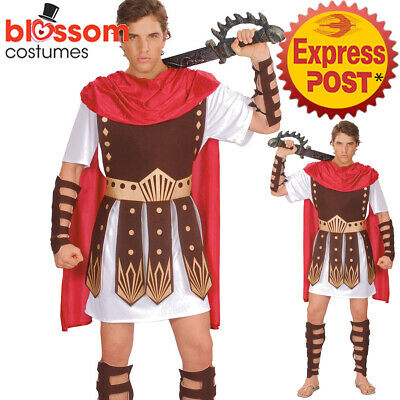 £19.87 • Buy CSW70 Gladiator Roman Mens Costume Warrior Spartan Soldier Book Week Outfit