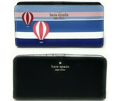 $ CDN68.51 • Buy Kate Spade Cameron Large Slim Bifold Leather Wallet Credit Card