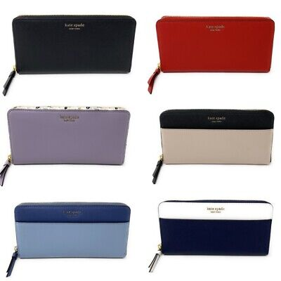 $ CDN100.63 • Buy Kate Spade Large Continental Pebbled Leather Zip Around Wallet