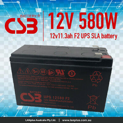 AU44.90 • Buy CSB UPS12580 F2 12V 580W High Rate VRLA NBN UPS Alarm Battery Long Life Warranty