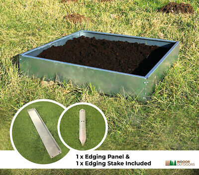 Galavized Steel Multipurpose Raised Bed Planter Edging Panels Garden Allotment  • 2.95£