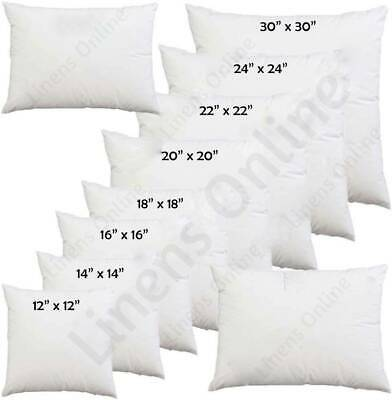 £3.99 • Buy Hollowfibre Cushion Pads Inserts Inners Fillers 14  16  18  20  All Sizes