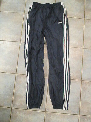 $ CDN18 • Buy Vintage Adidas Windbreaker Track Pants Blue 3 Stripes Mens Large