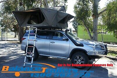 AU2600 • Buy Aerodynamic Hard Shell Foldable Roof Top Tent Camping Rooftop 4WD