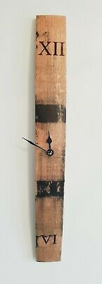Wall Clock - Solid Oak Whisky/ Whiskey Barrel Stave Wall Clock • 30£