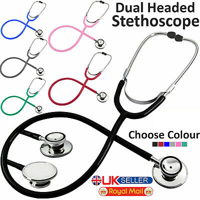 Pro Medical EMT Dual Head Stethoscope For Doctor Nurse Vet Student Health Care • 3.55£